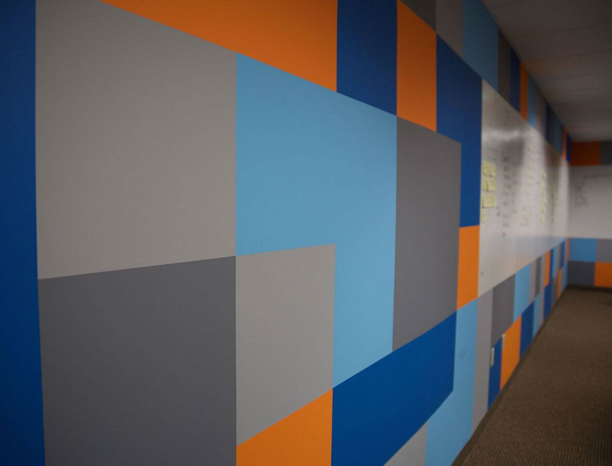 Commercial painted wall in Hillsboro, OR