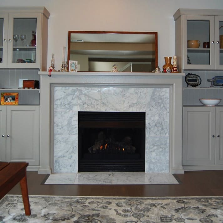 Interior painting fire place in Oregon