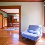 residential interior painting with hardwood floors