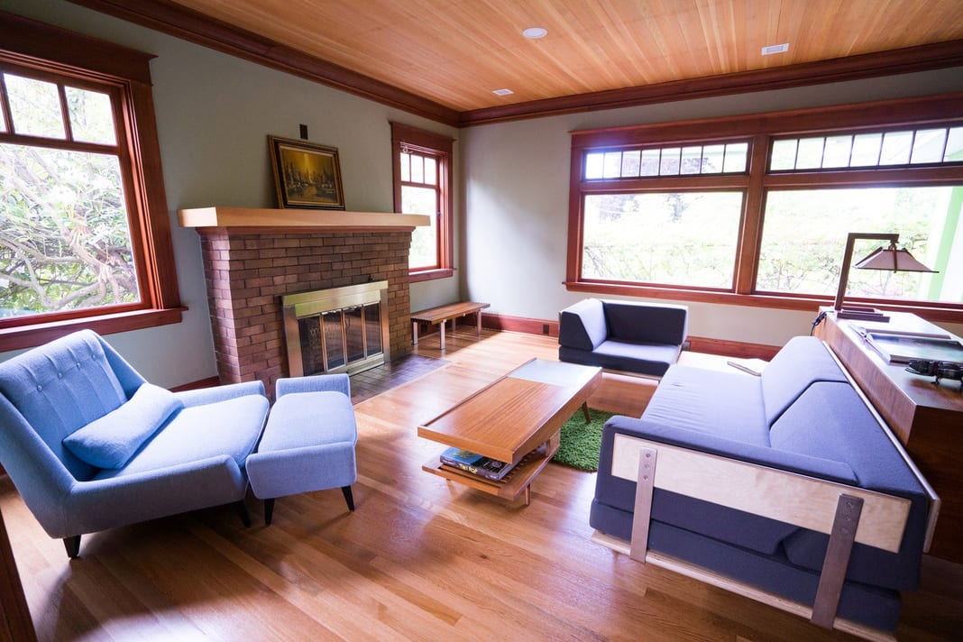 Oregons best interior painters living room with lots of light
